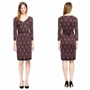 Tory Burch Tilda Silk Jersey Printed Dress Damask
